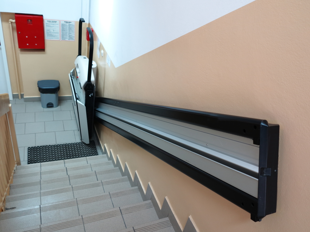 Installing a chairlift in your home for Elevator grab bars