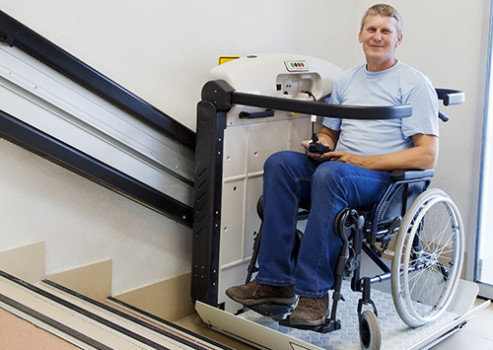 Commercial and residential wheelchair lifts for ADA accessibility and increased mobility. Professional installation for safety and security.